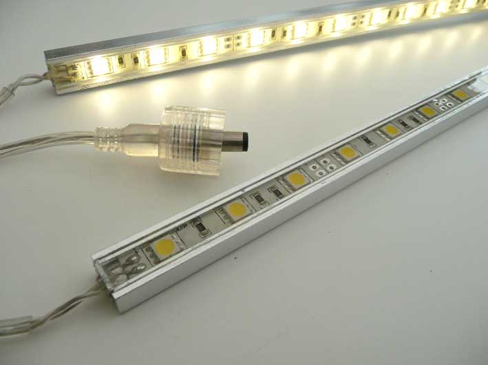 Led List Till Kok : LED list Alu 580mm, varmvit