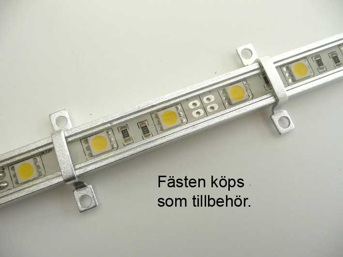LED list Alu 580mm, varmvit