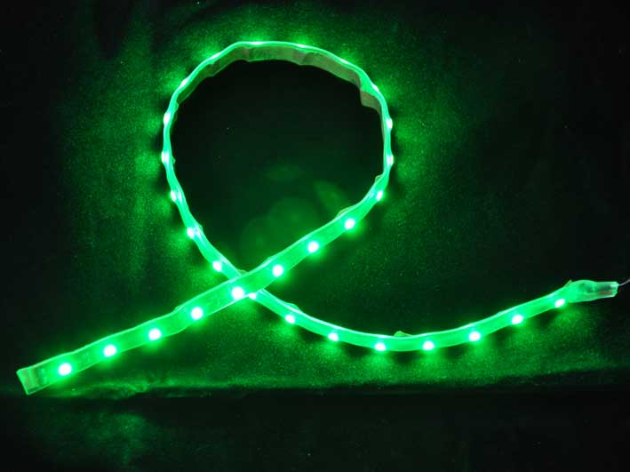 LED strip 220Lm/m, 300mm, Gr�n