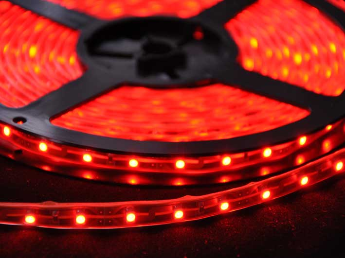 LED strip 204Lm/m, 5m rulle, Röd