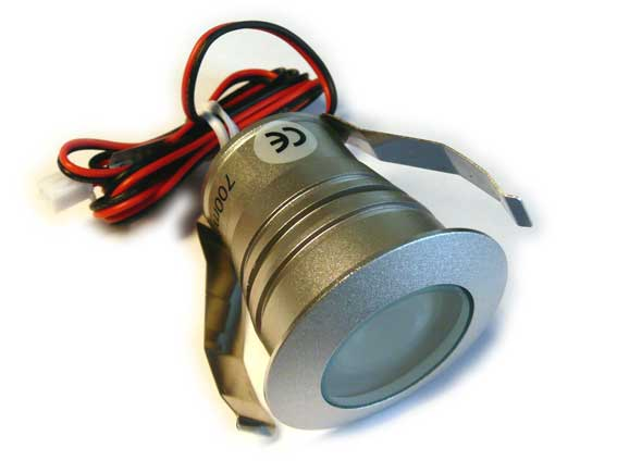 Downlight LED rund IP65, 45� 3w, 120Lm