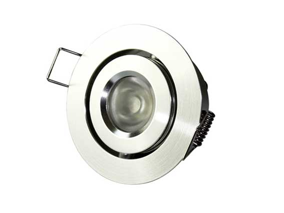 Downlight LED rund justerbar 45� 3w, 120Lm