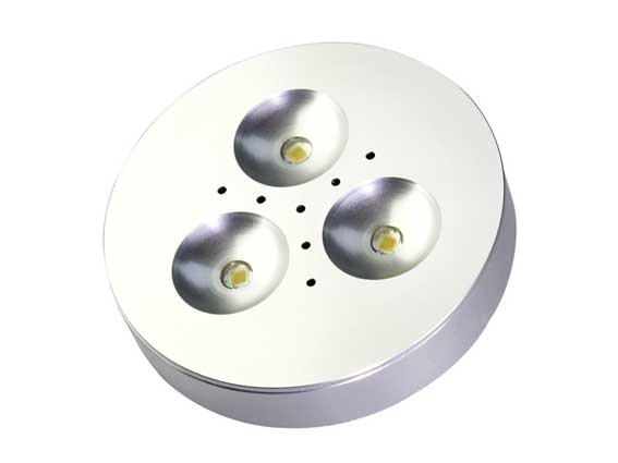 Downlight LED puck 3x1w, 120�, 180Lm
