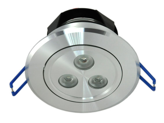 Downlight LED rund justerbar 3x3w, 360Lm