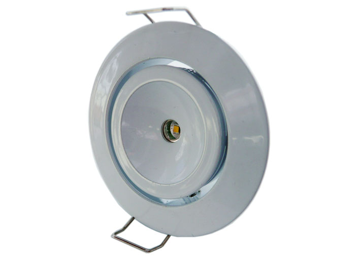 Downlight LED rund justerbar 120° 3w Vit, 120Lm