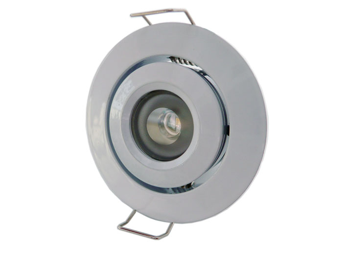 Downlight LED rund justerbar 45� 3w Vit, 120Lm