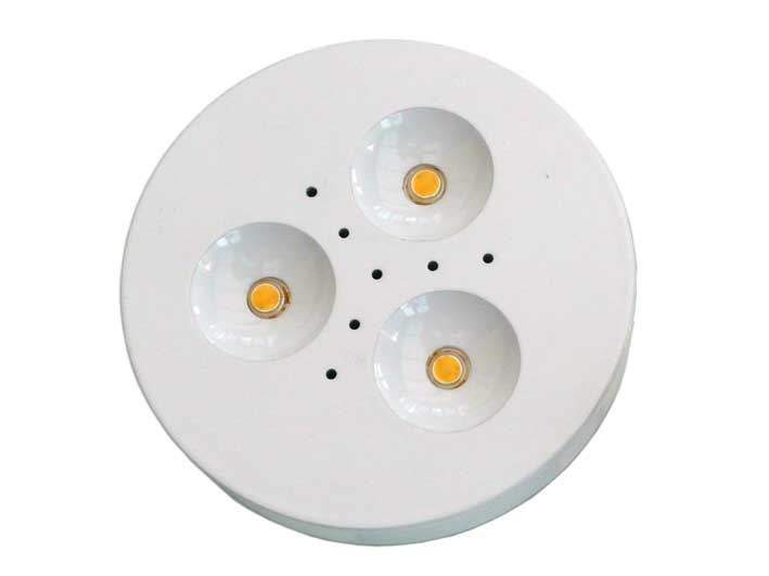 Downlight LED puck 3x1w Vit, 120�, 180Lm