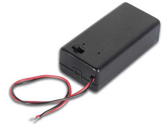 Batteripack 1x9v med switch